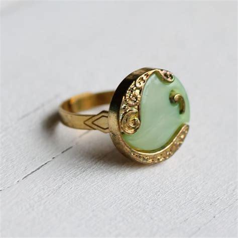Jugendstil Eheringe by Nouveau Blue Ring Vintage Paisley Nouveau With