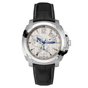 Guess Gc Chronoraph 6290 Leather guess gc mens swiss made chronograph tachymeter silver black leather ebay