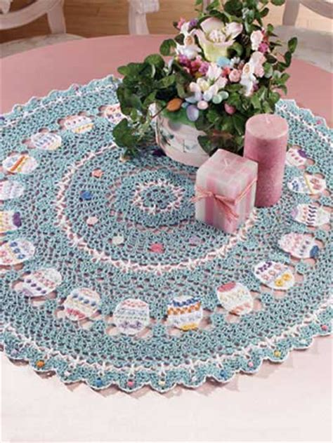 Kitchen Towel Craft Ideas by Crochet Kitchen Decor Easter Table Topper