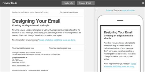 mail chimp email template mailchimp email marketing system gets a makeover far