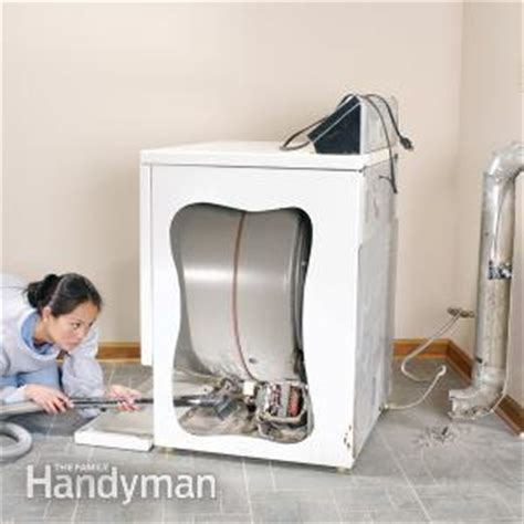 how to clean lint from inside dryer cabinet remove dryer lint the family handyman