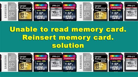 how to make a sd card readable eror unable to read memory card reinsert memory card