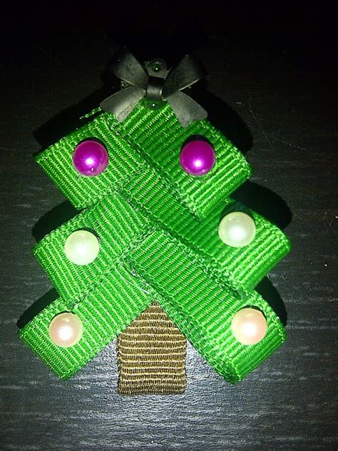 lucky s crafts make your own christmas tree hair clip