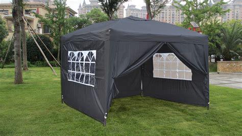 gazebo with sides mcombo 10x10 ez pop up 4 walls canopy tent gazebo