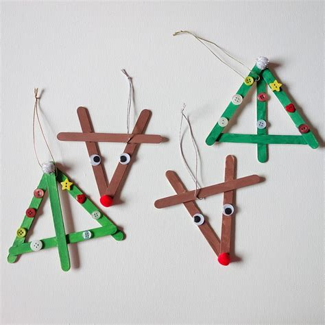 Basteln Weihnachten Mit Kindern by Basteln F 252 R Weihnachten Mit Eisstielen 20 Deko Ideen Und