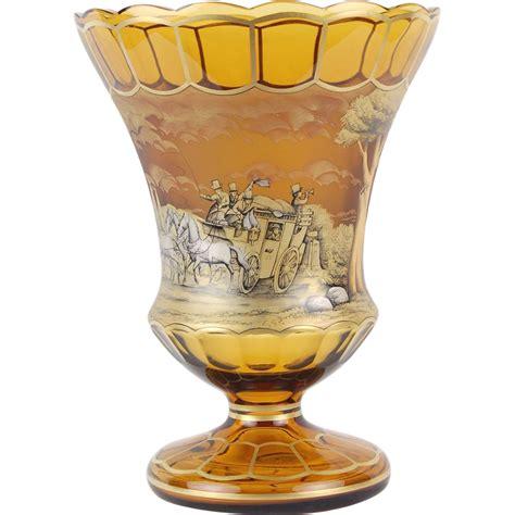 Moser Vase by Moser Anton Kusak Painted Vase