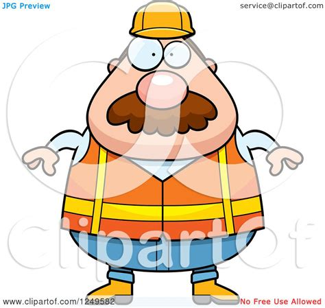 royalty free building contractor clip art vector images clipart of a chubby road construction worker man royalty