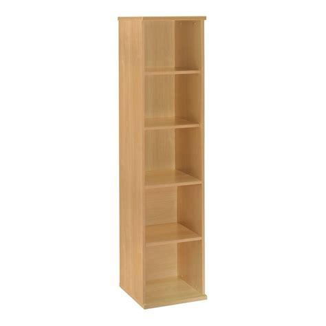 shop bush business furniture light oak 5 shelf bookcase at