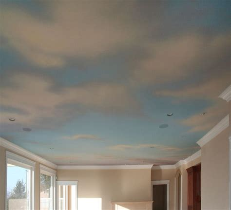 this is pretty nice cloud ceiling mural with underlying