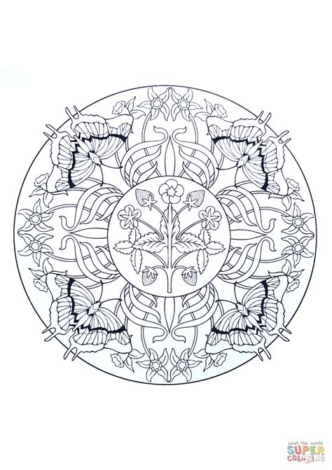 mandala coloring pages butterfly aboriginal