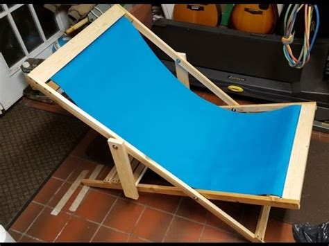 diy folding beach chair super easy project youtube