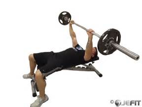 bench press barbell bench press exercise database jefit best