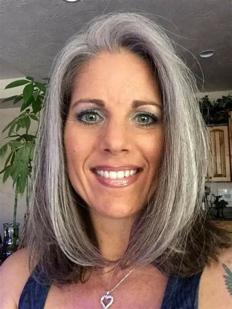 2025 best women with gray silver hair images on