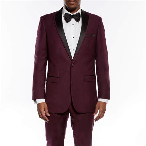 New Vest Deluna Maroon Matt burgundy suit prom go suits