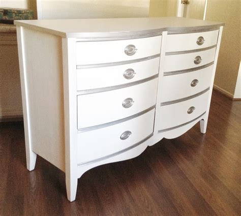 White And Silver Dresser by White And Silver Country Regency Mahogany Dresser