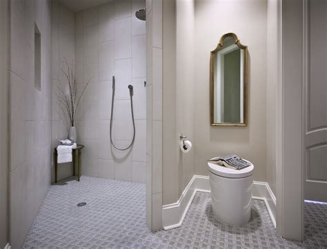 disabled bathroom design doorless walk in shower small bathroom studio design