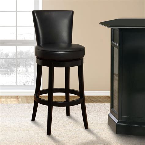 bar stools boston armen living boston 30 in black bonded leather and black