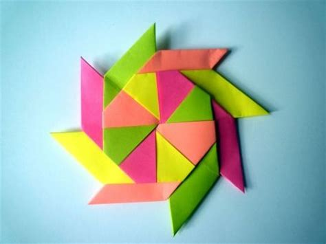 Origami Pinwheel - pinwheel origami show me how to do it