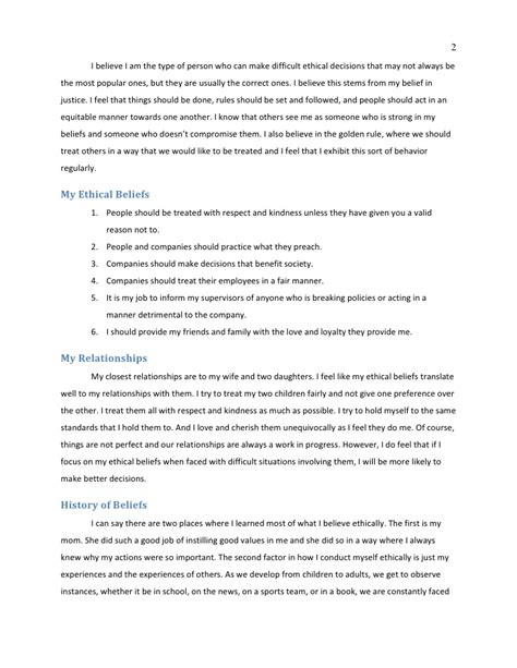 personal code of conduct template personal code of ethics