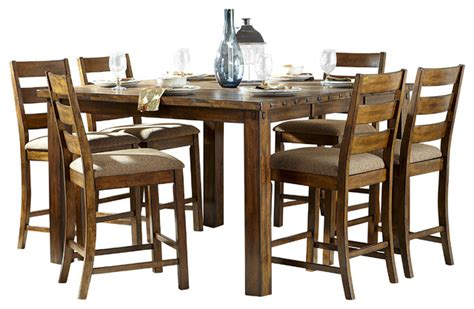 Homelegance Ronan Counter Height Table In Burnished Rustic