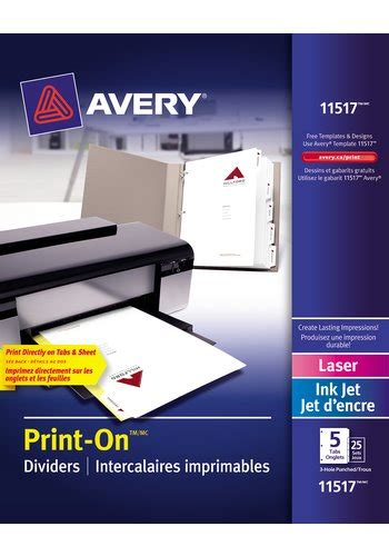 avery printable fabric laser printer avery 174 11517 print on 174 dividers 8 1 2 quot x 11 quot white