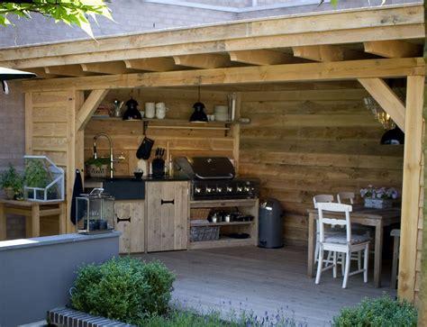 tuinhuis met buitenkeuken modellen met buitenkeuken bowisse