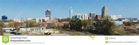 panoramic view on downtown raleigh nc royalty free stock