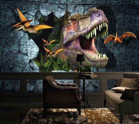Full Wall Murals aliexpress com buy new 3d dinosaurs wall mural wallpaper