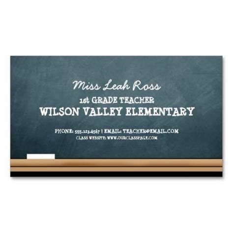 business cards for teachers templates free chalkboard blue business card business cards paper business