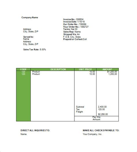 agency template travel invoice templates 14 free word excel pdf