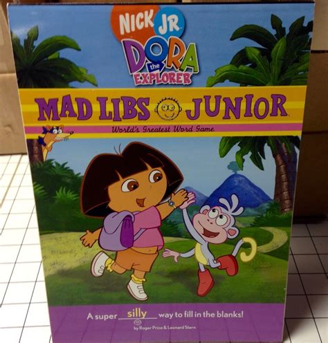 Mad Libs Jr Nick Jr Dora The Explorer Word Game