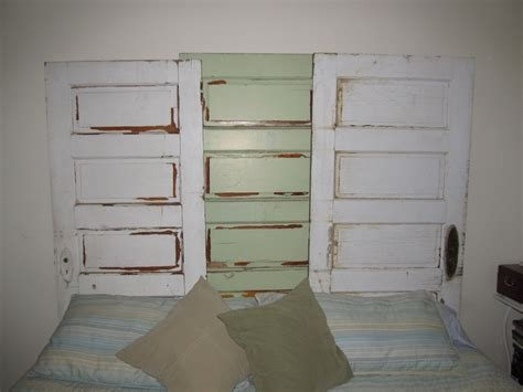 Headboards Made Out Of Doors by Headboard I Made Out Of Three Doors Take On Vintage Doors Doors And