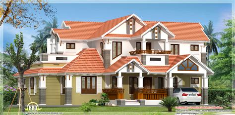 Tile Roof House Plans by Traditional Mix 4 Bedroom Kerala Home Design Kerala Home