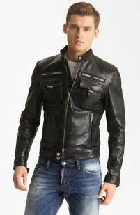 leather moto jacket dsquared 178 chic leather moto jacket in black for lyst