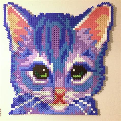 perler bead cat patterns cat perler by villal8 reese perler