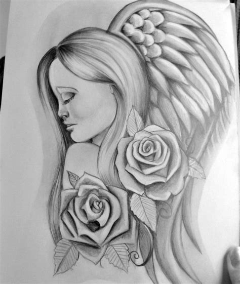 tattoos of angels tattoos drawings cool tattoos bonbaden