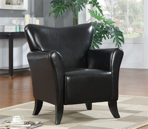 Black Accent Chair Black Faux Leather Accent Chair