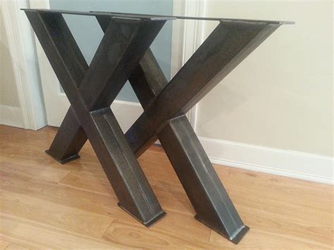 Metal Table Legs by Metal Table Legs 4 Steel Table Legs Oversize X Metal