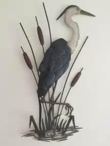 Metal Bird Wall Decor by Nautical Heron Coastal Metal Wall Decor Lake Seaside