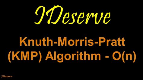 pattern matching algorithm youtube knuth morris pratt kmp pattern matching youtube