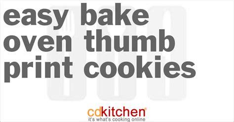 printable easy bake oven recipes easy bake oven thumb print cookies recipe cdkitchen com