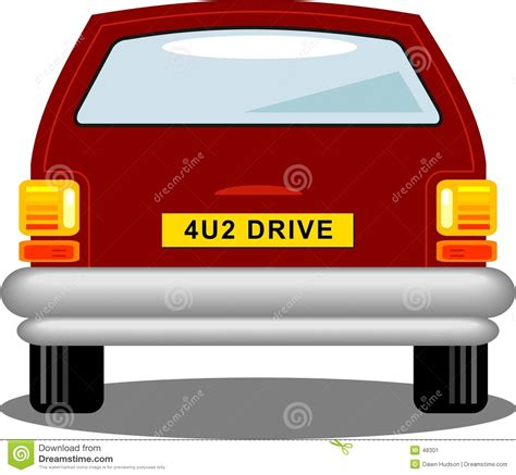 cartoon car back car rear stock image image 48301