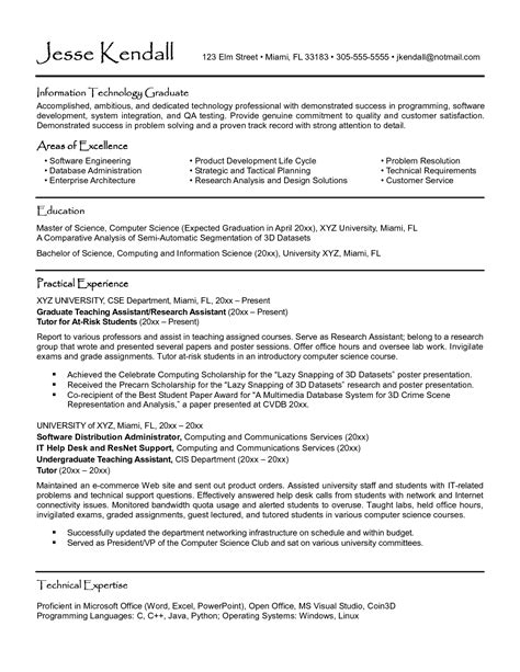 Sle Resume Format For College Students With No Experience Sle Resume For High School Graduate With No Experience 100 Images Part Time Resume Exles For