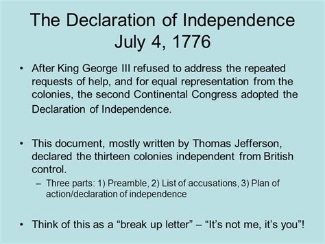 up letter allegory of the declaration of independence and the american revolution ppt