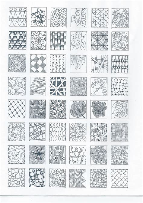 pattern drawing worksheet simple zentangle patterns zentangle pinterest
