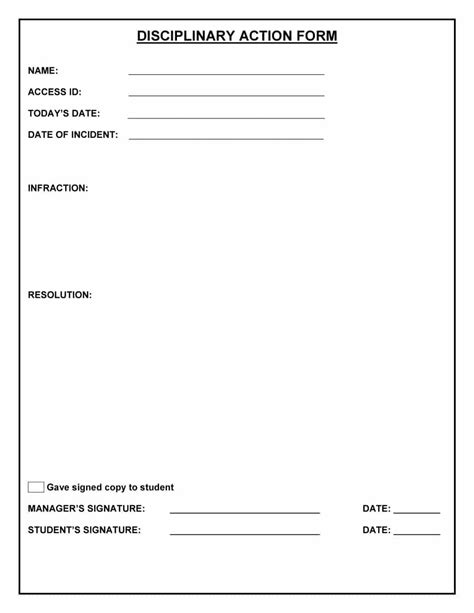 form 46 effective employee write up forms disciplinary action fo