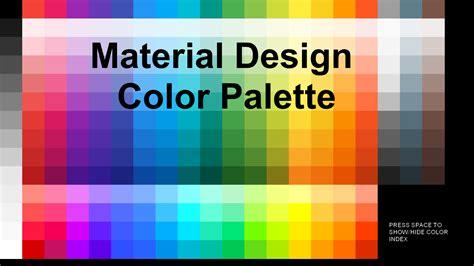material design color schemes material design color palette by smallbigsquare