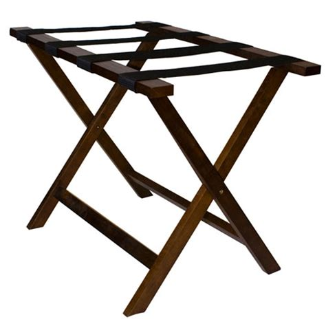 Wooden Luggage Rack by Hospitality 1 Source Deluxe Wooden Luggage Rack W Black