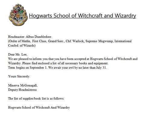 Hogwarts Acceptance Letter Email Hogwarts Acceptance Letter By Angerawrrs On Deviantart