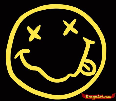 how to draw nirvana smiley face step by step band logos